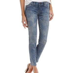 """NWT Current/Elliot """"The Stiletto"""" Blue Rose Jeans"""